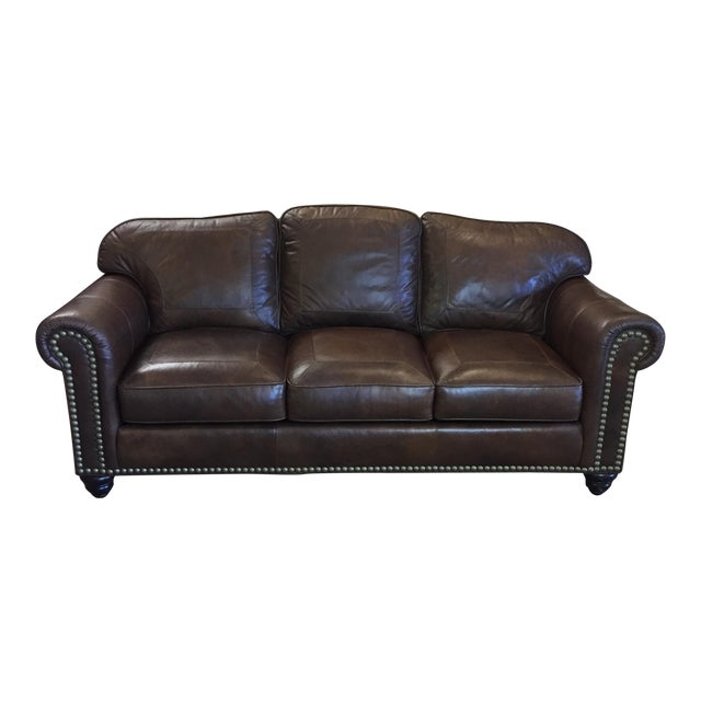 Whittemore Sherrill Leather Sofa - Image 1 of 11
