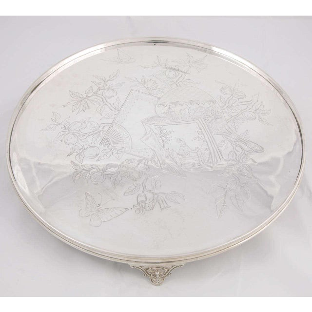 Three-Piece Child's Tea Set and Tray For Sale - Image 10 of 11
