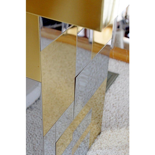 1970s Paul Evans Mid-Century Modern Cityscape Chrome Brass Pedestal, 1970 For Sale - Image 5 of 9
