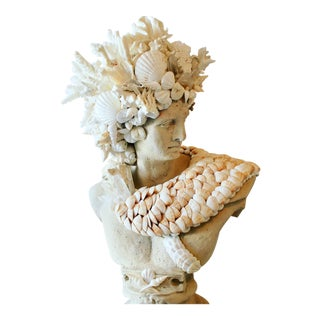 Early 21st Century Apollo Shell-Encrusted Bust For Sale