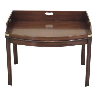 1970s Chippendale Kittinger Colonial Williamsburg Mahogany Coffee Table For Sale