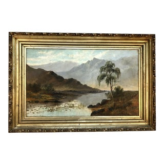 Monumental Early 20th Century Landscape Oil Painting by Gordon Fielding For Sale