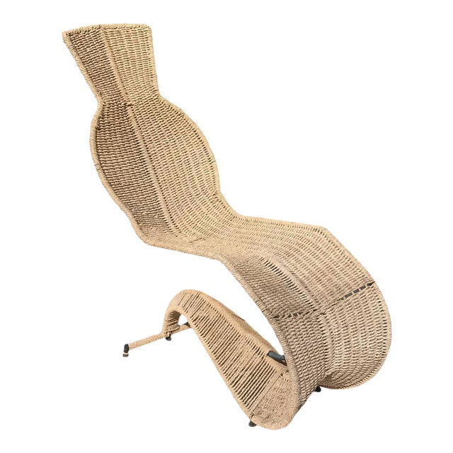 Sculptural Woven Rope Chaise Longue For Sale