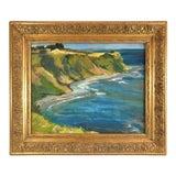 Image of Vintage 1970s Gilt Framed Coastal Landscape Signed O'Neill For Sale