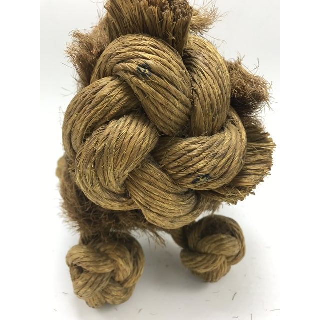 1960s Mid-Century Danish Braided Rope Lion For Sale In San Diego - Image 6 of 13