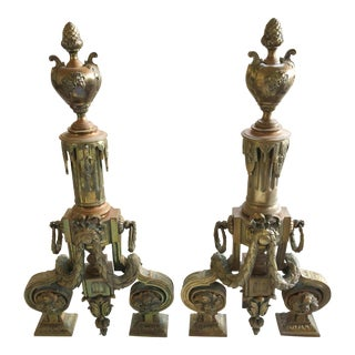 Pair of French Chenets For Sale