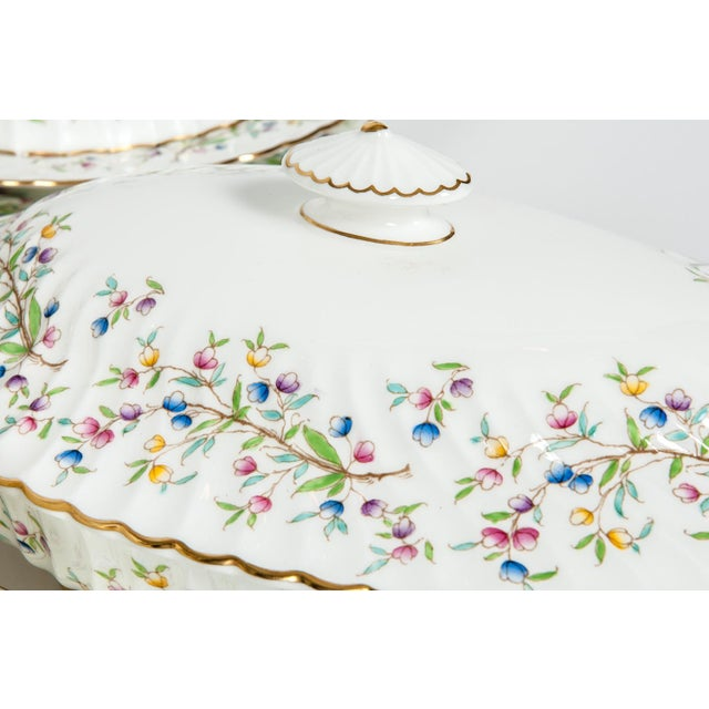 Ceramic Minton English Full Service Dinnerware for 12 People - 84 Pc. Set For Sale - Image 7 of 13