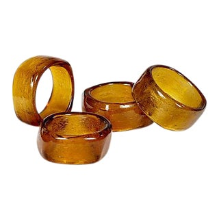 Bakelite Napkin Rings - Set of 4