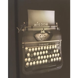 """Nina Bentley """"Pearls of Wisdom"""" Typewriter Limited Edition Framed Photograph C. 2017 For Sale"""