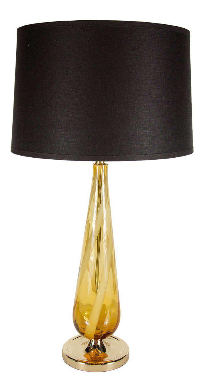 Superior Sophisticated Mid Century Modern Murano Glass Teardrop