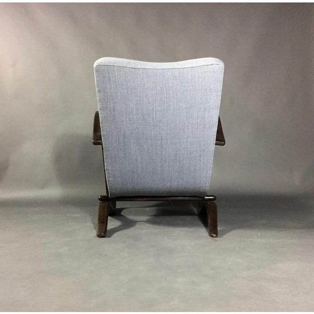 Jindřich Halabala Lounge Chair, Czech Republic, 1930s For Sale - Image 9 of 11