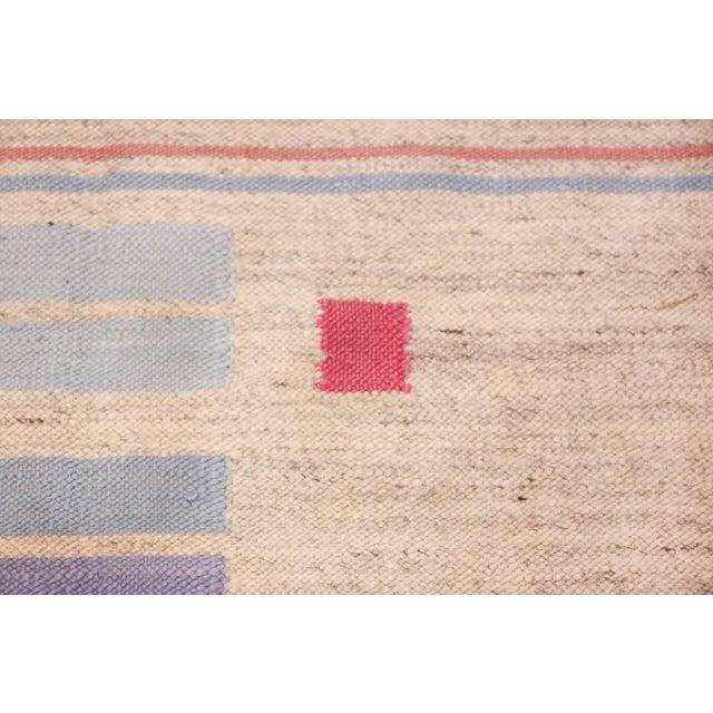 Vintage Scandinavian Swedish Flat-Woven Kilim Rug - 5′7″ × 8′ For Sale - Image 4 of 10