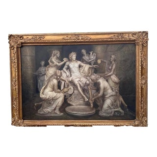 Neoclassical Rococo Oil Painting For Sale