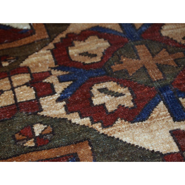 Traditional 1950s, Handmade Vintage Caucasian Eagle Kazak Rug 5.8' X 8.8' For Sale - Image 3 of 13