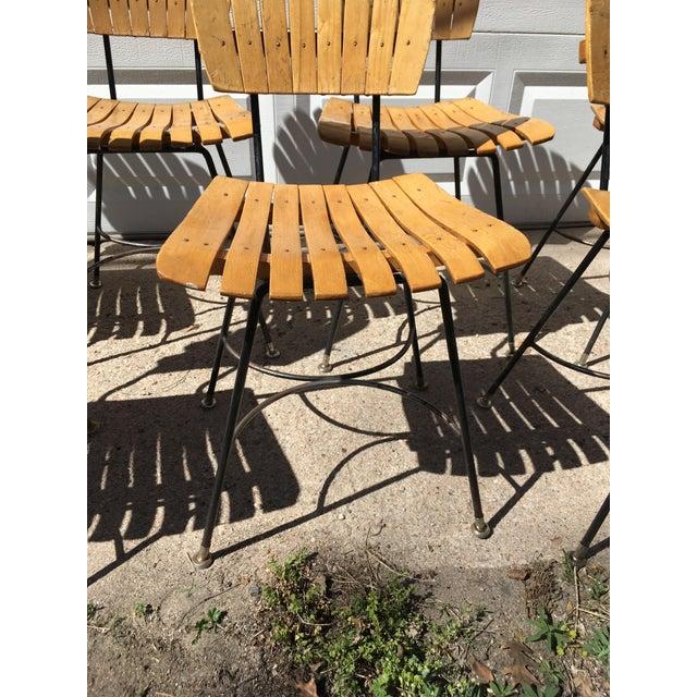 Raymor Arthur Umanoff Slatted Wood & Iron Chairs - Set of 30 For Sale - Image 4 of 13