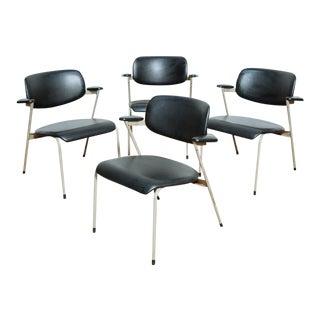 Set of 4 Willy Van Der Meeren Dining Chairs For Sale
