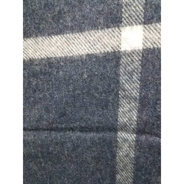 Gray Merino Wool Throw Blue and Aqua - Made in England For Sale - Image 8 of 9