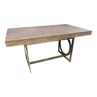 Modern Style Metal and Wood Writing Desk For Sale