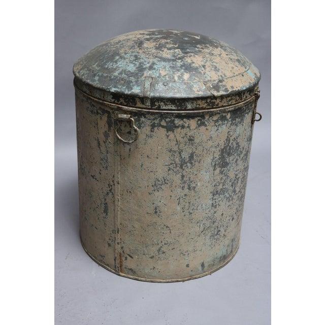 Metal Grain Drum from Rajasthan, India 1920s.