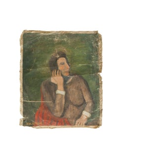 Vintage Kal Greene Portrait Painting For Sale