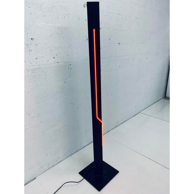 Postmodern Rudi Stern Postmodern Red Neon Floor Lamp for George Kovacs, 1980s For Sale - Image 3 of 13