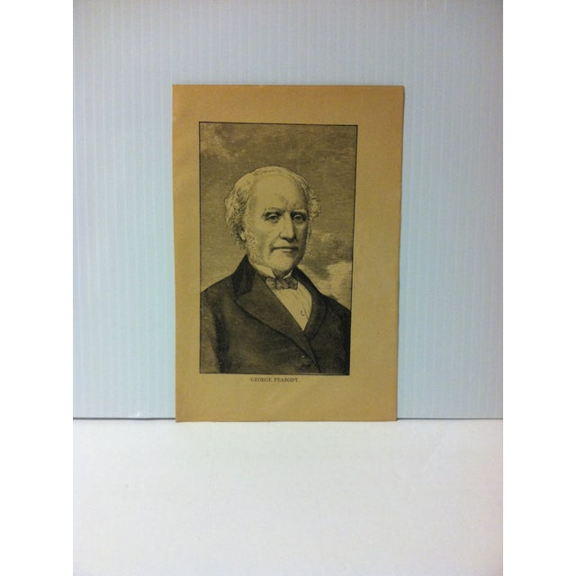 """1880 """"George Peabody"""" Successful Self-Made Men Print on Paper For Sale - Image 4 of 4"""