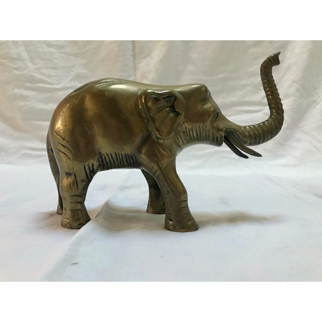 Metal Brass Elephant For Sale - Image 7 of 7