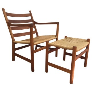 Hans Wegner Ch44 Lounge Chair and Ottoman