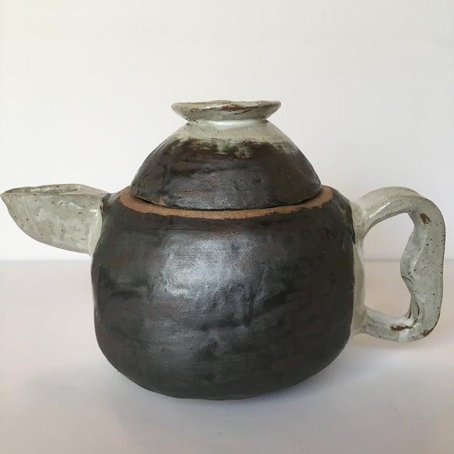 Brutalist Large Primitive Handmade Tea Pot For Sale - Image 3 of 11