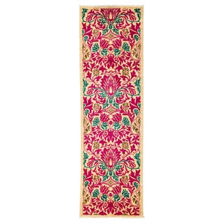 "Arts & Crafts Hand Knotted Runner - 2'7"" X 8'7"" For Sale"