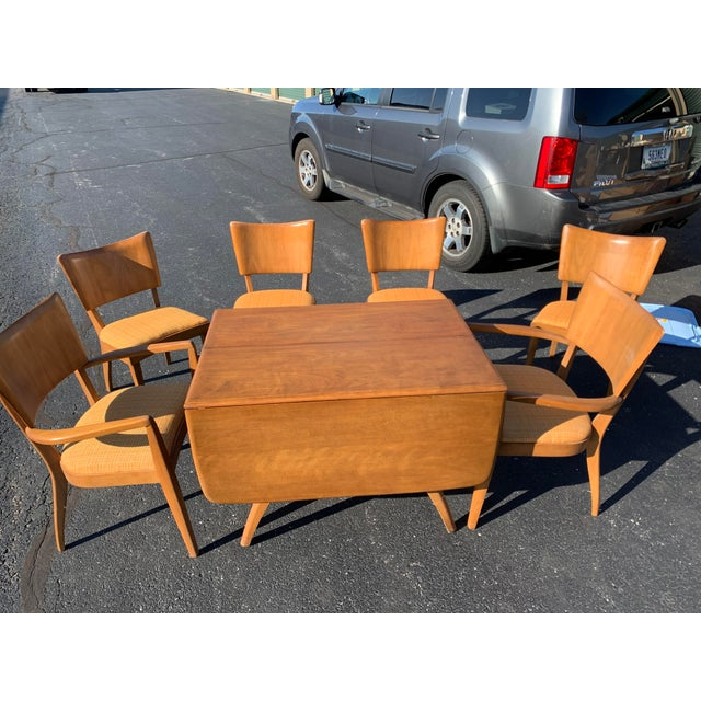 Beautiful condition vintage Heywood Wakefield Drop-leaf Table and Chair set. Small signs of use, but nothing is broken or...