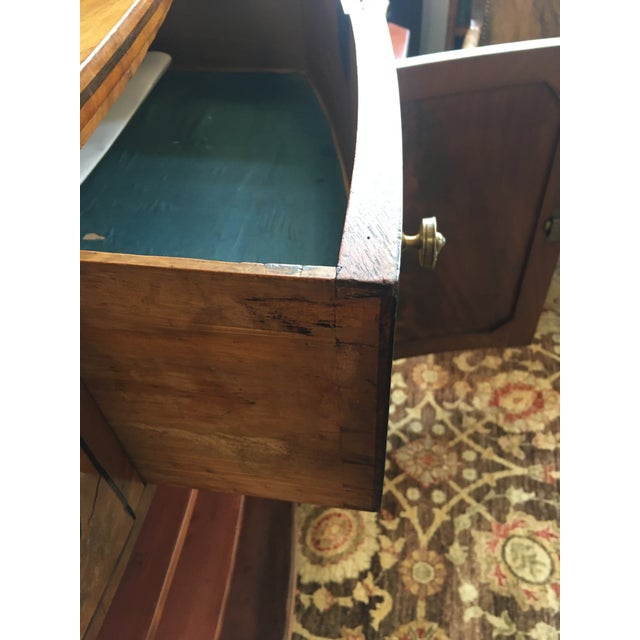 English Late 19th Century Antique English Burled Satinwood and Walnut Cabinet For Sale - Image 3 of 9