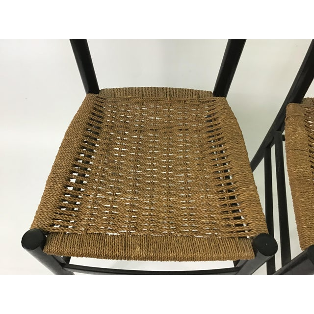 Black Gio Ponti Ladder Back Chairs - a Pair For Sale - Image 8 of 9