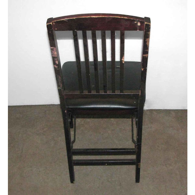 Antique Black Folding Wood Chair For Sale - Image 5 of 11