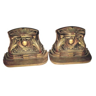 1920s Vintage Judd Art Deco Nouveau Style Sold Bronze Bookends - a Pair For Sale