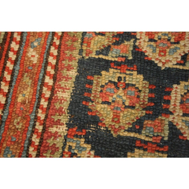 "Long Vintage Hand-Knotted Wool Rug - 13′5″ X 3'8"" - Image 11 of 11"