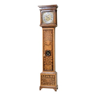 D. Listaungon English Mahogany Inlaid Clock, 18th C. For Sale