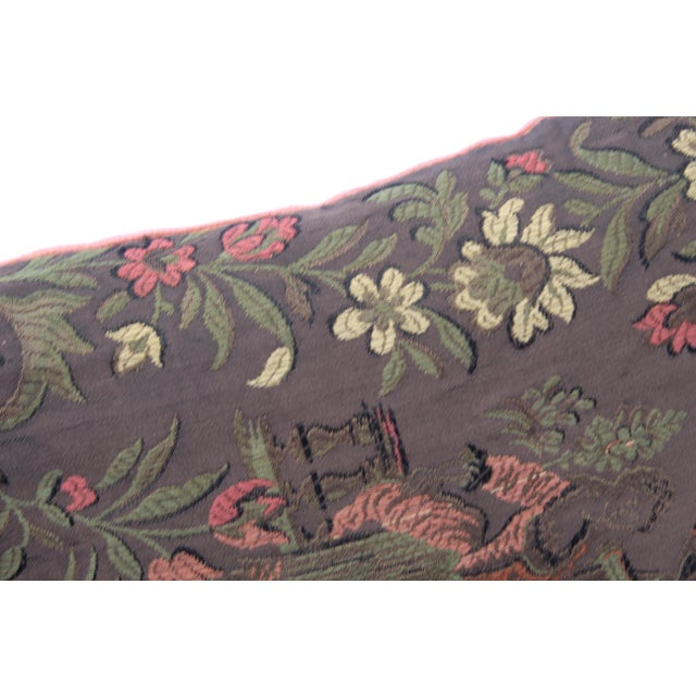Silk 20th Century Renaissance Style Decorative Pillow For Sale - Image 7 of 8
