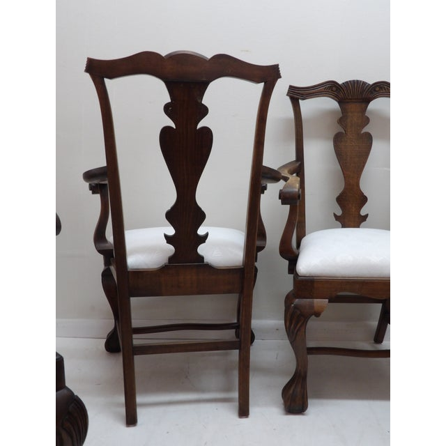 Wood Vintage Carved Wood Dining Chairs - Set of 4 For Sale - Image 7 of 8