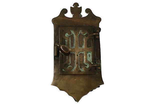 Vintage Georgian Speakeasy Door Knocker - Image 3 of 7  sc 1 st  Chairish & Vintage Georgian Speakeasy Door Knocker | Chairish
