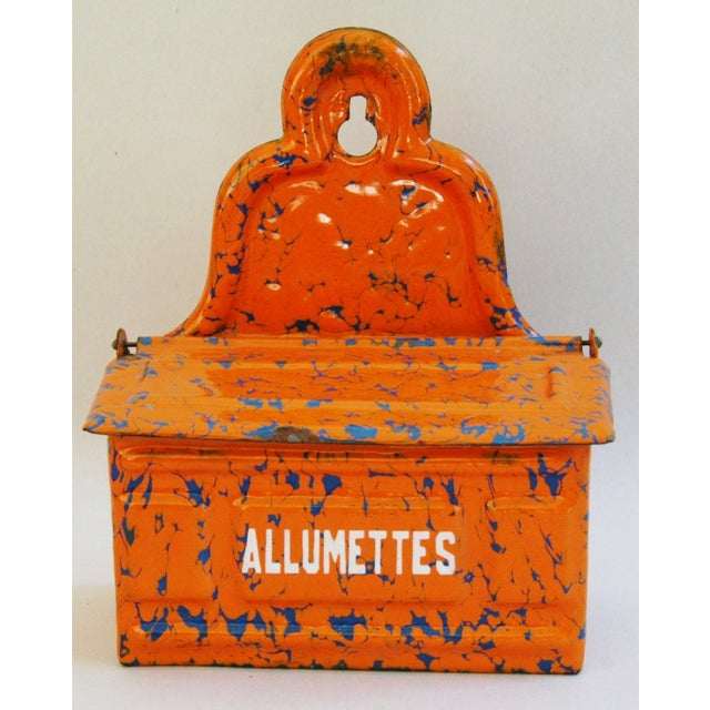 1940s French Enamel Allumettes Holder - Image 7 of 7