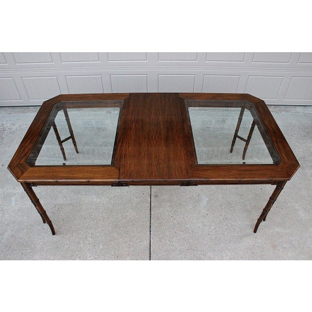 1980s Century Furniture Faux Bamboo Dining Set For Sale - Image 5 of 13