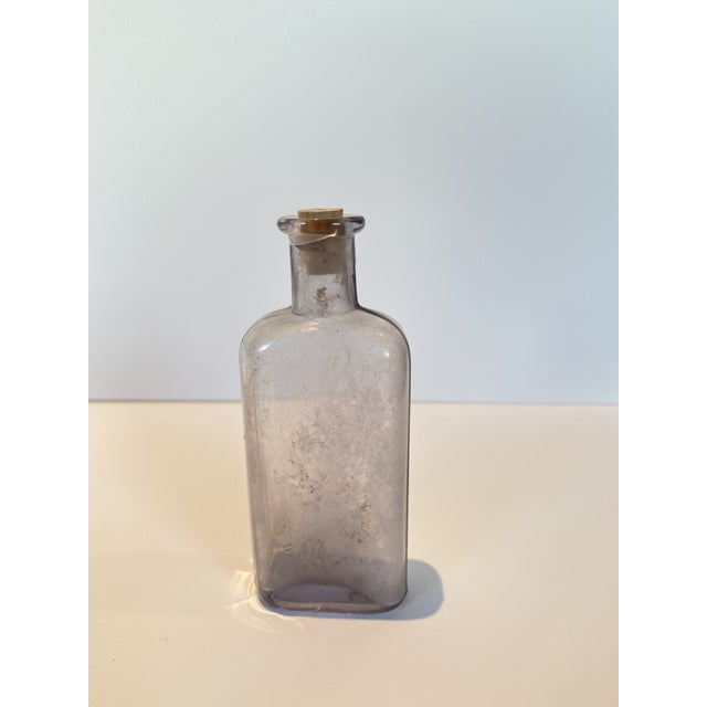 Wood Vintage Glass Apothecary Bottles - Set of 7 For Sale - Image 7 of 11