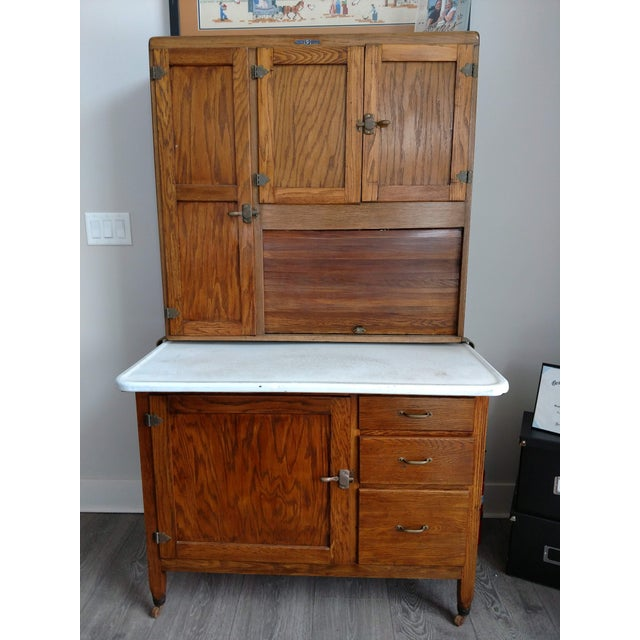 American Antique Hoosier Cabinet For Sale - Image 3 of 5