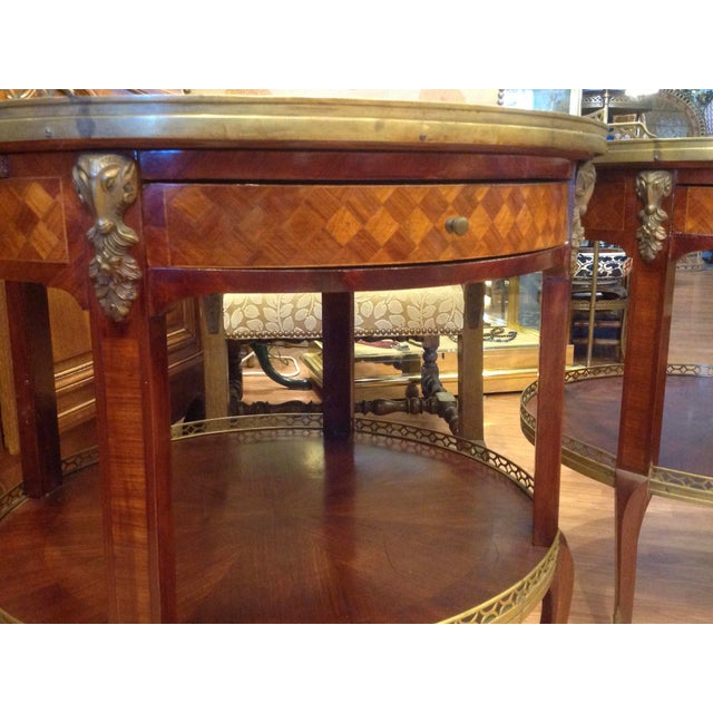 White Pair of Fine French Bouillotte Tables For Sale - Image 8 of 13