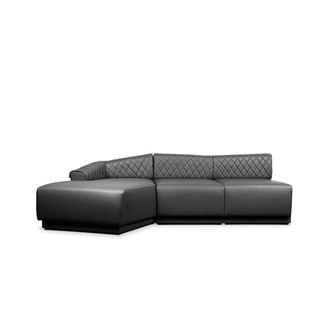 Black Anguis Sofa From Covet Paris For Sale - Image 8 of 13