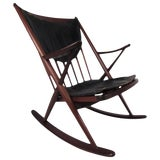 Image of Mid-Century Sculpted Rocking Chair For Sale