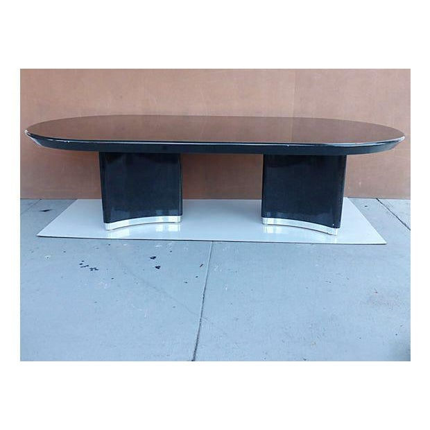 Karl Springer Style Dining Table For Sale - Image 9 of 10