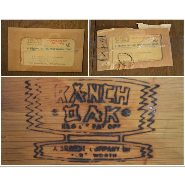 Brandt Ranch Oak Tall Narrow Bookcase Cabinet w/ Drawer & Doors For Sale In Philadelphia - Image 6 of 12