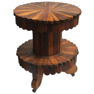 Early 20th Century Folk Art Two-Tier Side Table For Sale